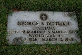 Gravestone of PFC George Dittmann, USMC