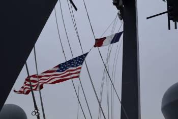 USS CARNEY's Yardarm