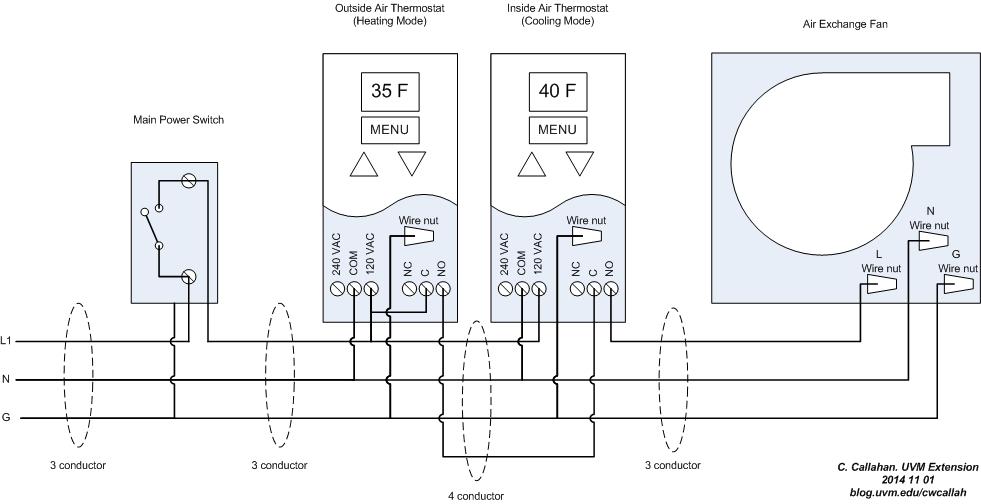 American Standard Pump Wiring Diagram Simple Diy Outside Air Exchange Uvm Extension Ag Engineering