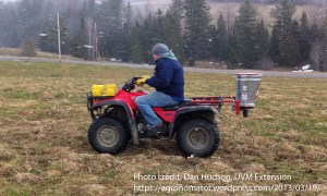 Frost seeding by ATV!