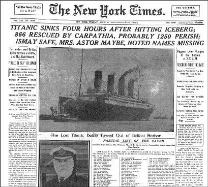 Titanic sinks: Elsie Bannerman survives