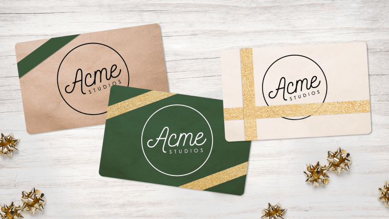 A trio of gift certificates