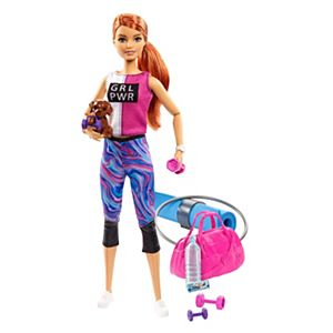 Fitness Barbie with accessories