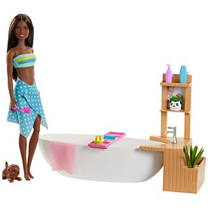 Fizzy Bath Barbie with accessories