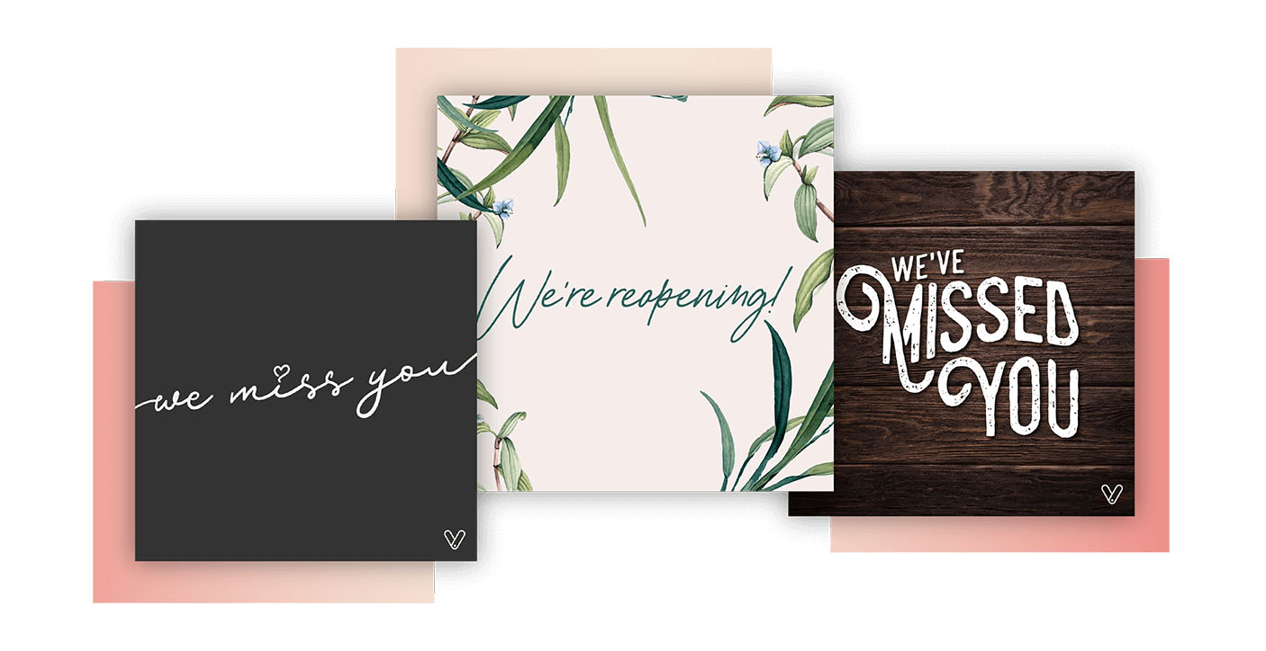 Come Back in Style – Free Reopening Social Media Templates