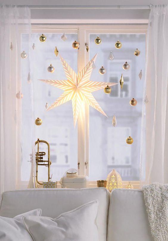 decoração de natal janela