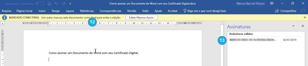 Como assinar um doc com seu e-cpf - Image 009