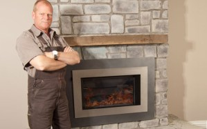 Mike Holmes next to a Valor H4 Series