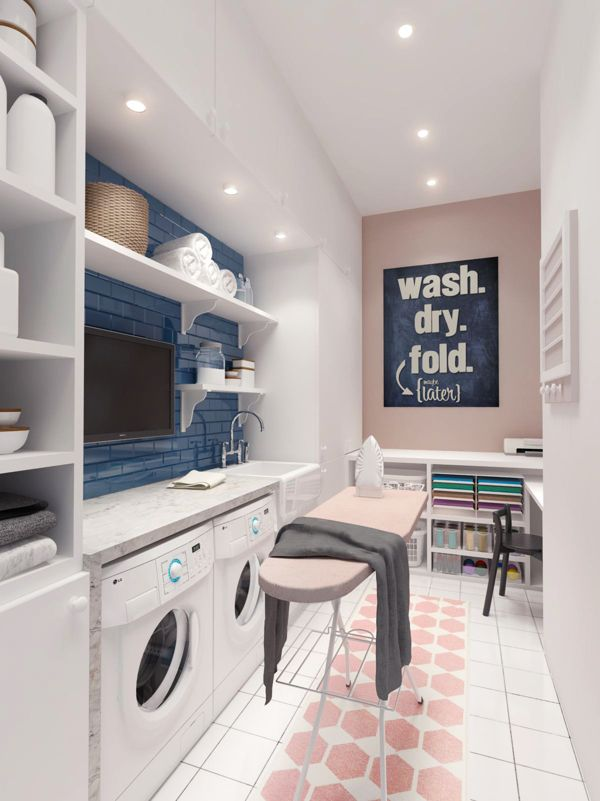 This image has an empty alt attribute; its file name is A-flat-screen-TV-in-the-laundry-room-fantastic-idea.jpg