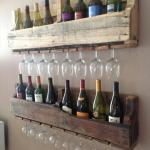 Pallet Wine & Bottle Holder