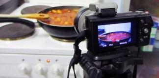 Food video filming