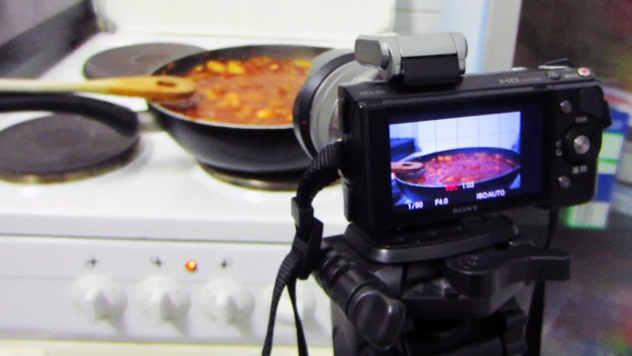 Food video filming