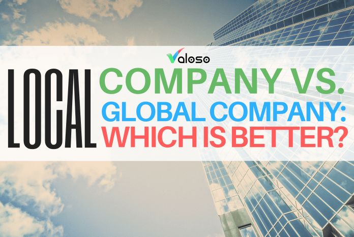 local company vs global company