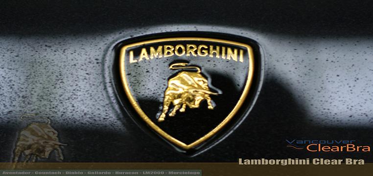 Lamborghini Vancouver Clear Bra paint protection film Vancouver ClearBra 3M Xpel Vancouver