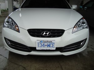 vancouver-clearbra-paint-protection-film-hyundai-genisis-coupe-front-bumper