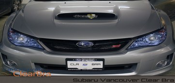 subaru vancouver clear bra paint protection film vancouver clearbra 3m xpel