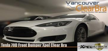 Tesla 70D Front Bumper Xpel Clear Bra