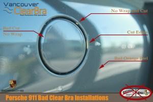Porsche 911 Bad Clear Bra Installations