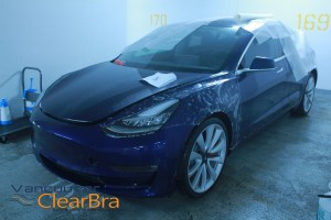 Tesla Vancouver Model 3 X S Clear Bra Paint Protection Film