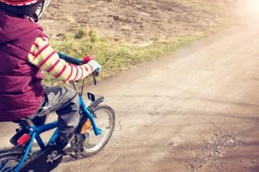 Sint-Maarten/Sinterklaas actie op kinderfietsen