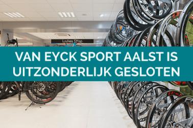 Van Eyck Sport Aalst uitzonderlijk gesloten op 6 december