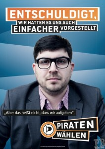 Lauer Piratenpartei Entschuldigung Plakat