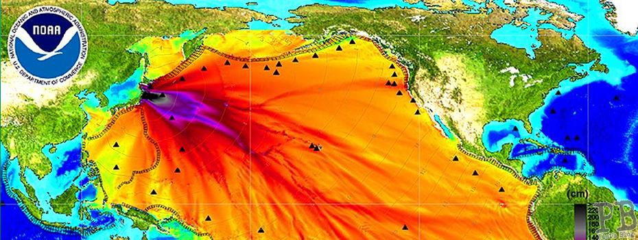 Verbreitung der Radioaktivität im Pazifik