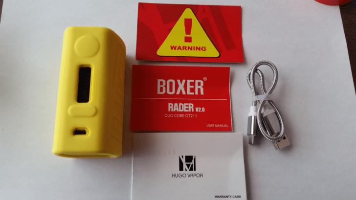 HUGO Vapor BOXER V2 211W BOX MOD内容品