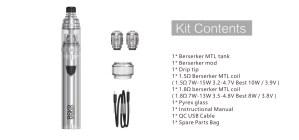 Bereserker MTL KIT contents