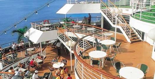 Instalaciones de uno de los cruceros de Happy Cruises