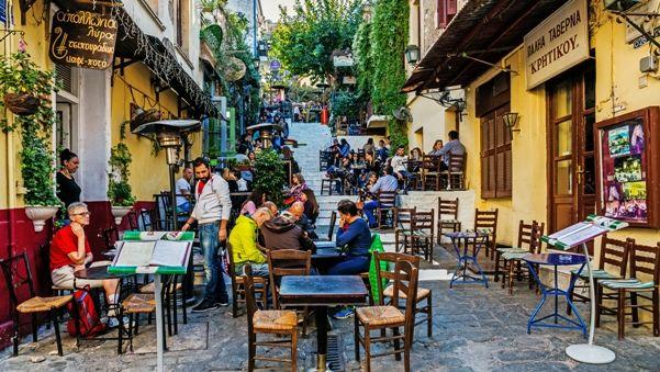 Barrio de la Plaka en Atenas