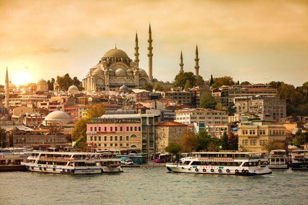Vistas de Estambul en un día