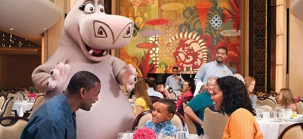 Experiencia Dreamworks Royal Caribbean cena