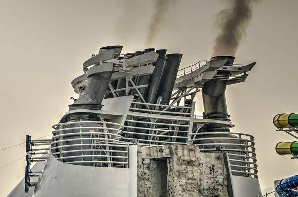 Emisiones de carbono en un crucero