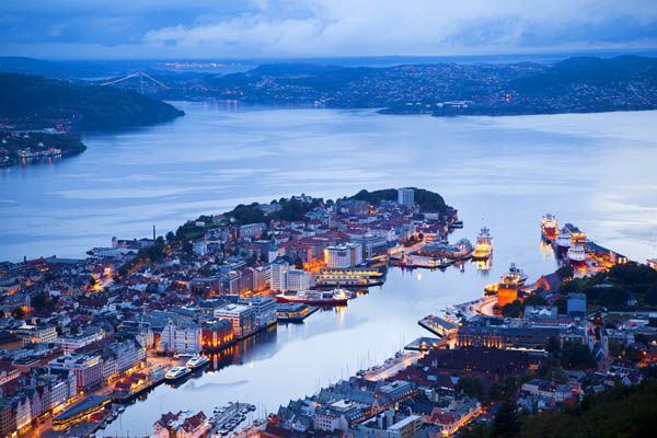 Bergen en Noruega