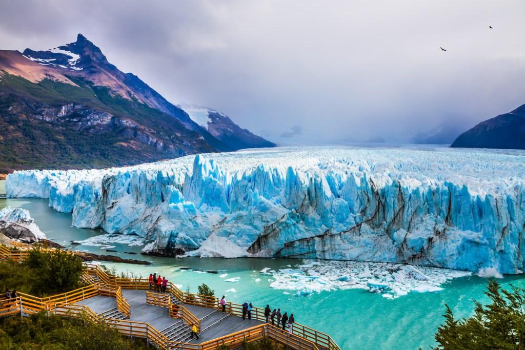 Glaciar Perito Moreno in the Patagonia crucero vuelta al mundo