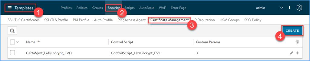 Create a Certificate Management profile