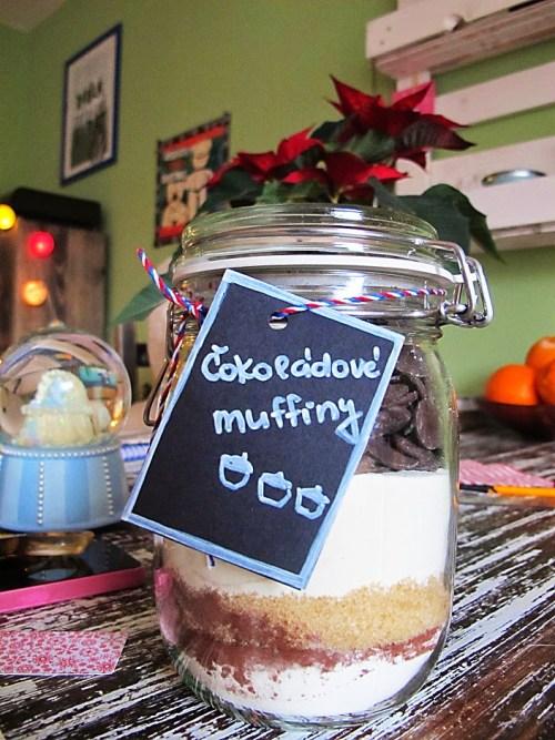 čokoládové diy muffiny