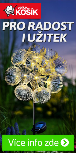 solární zahradní dekorace květinová iluze