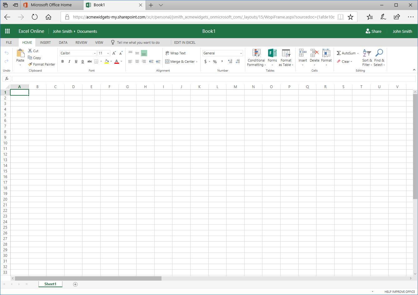 Getting Started With Microsoft Excel Online