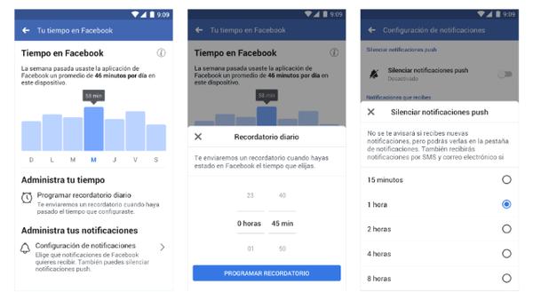 Facebook e Instagram te dicen cuánto tiempo pasas dentro