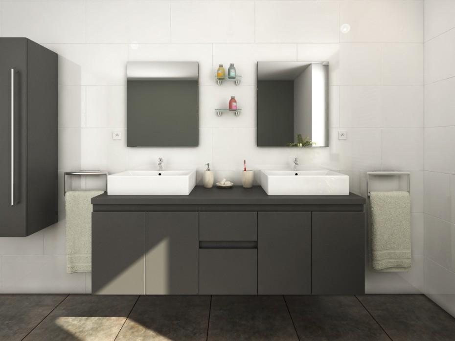 choisir une simple ou double vasque meuble double vasque