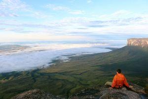 Acima das nuvens no Monte Roraima