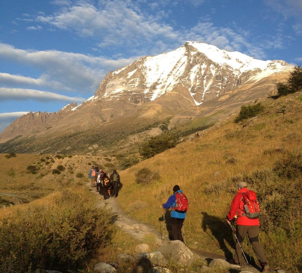 Trecho do trekking W na Patagônia