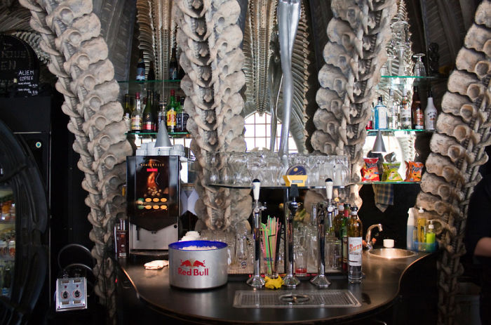 Most-amazing-spaces-venuerific-blog-HR-Giger-Museum-Bar-Switzerland-bar