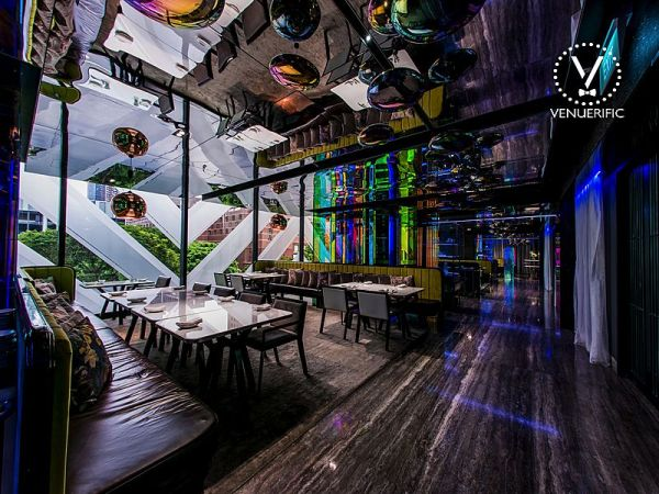 trendy and modern interior of mitzo restaurant by grand park orchard