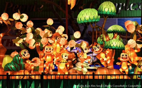 monkey lantern for celebrate chinese new year