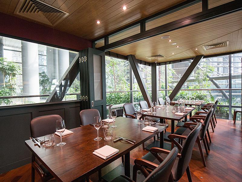 Modern and elegant japanese restaurant wakanui grill dining singapore