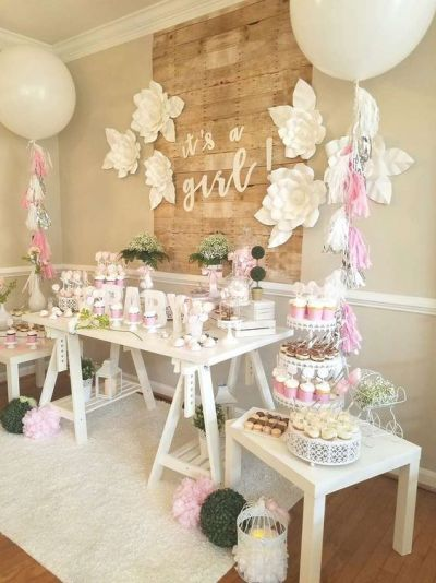 it's a girl baby shower decoration