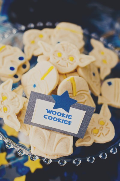 Star wars cookies for boy baby shower party